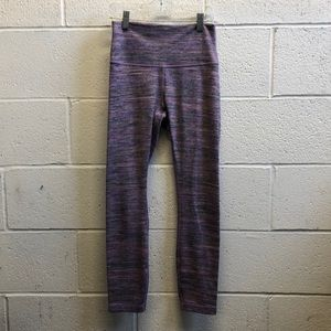 Lululemon purple & gray hi waist 7/8 legging sz 4